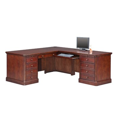 Darby Home Co Spielman L Shaped Executive..
