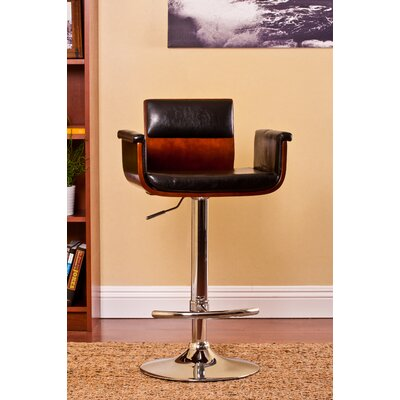 AC Pacific Adjustable Height Swivel Arm Bar Stool