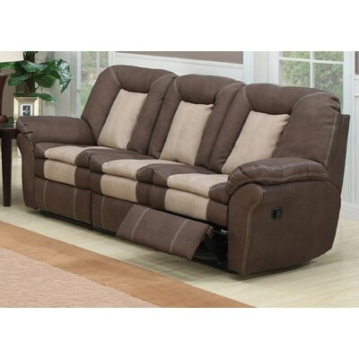 AC Pacific Carson Plush Living Room Dual Reclining Sofa