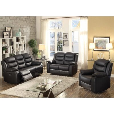 AC Pacific Bennett 3 Piece Living Room Set