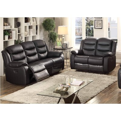 AC Pacific Bennett Sofa and Loveseat Set