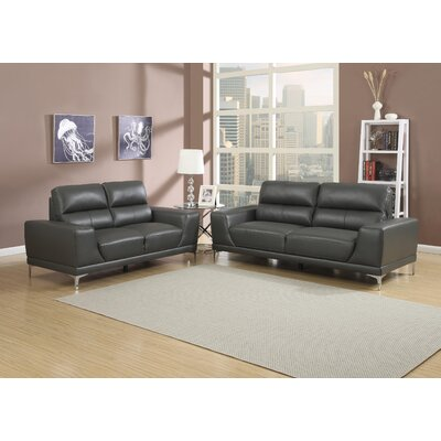 AC Pacific Elena Sofa and Loveseat Set