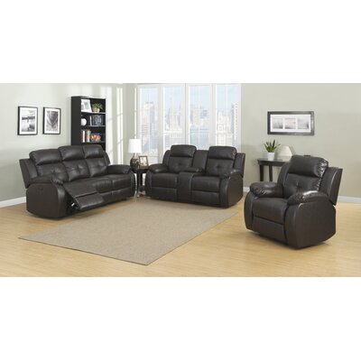 AC Pacific Troy Power 3 Piece Reclining Living Room Set
