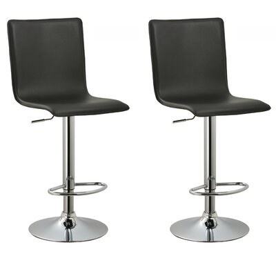AC Pacific Adjustable Height Swivel Bar Stool (Set of 2)