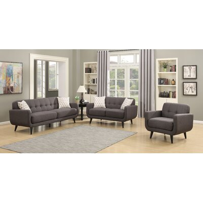 AC Pacific Crystal 3 Piece Living Room Set | Wayfair
