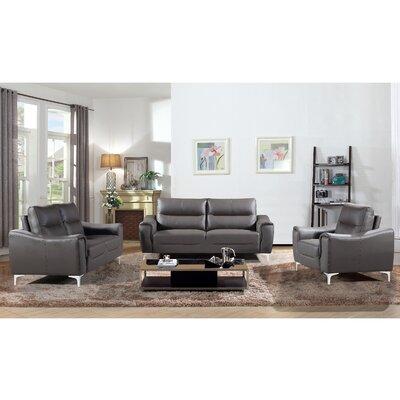 Orren Ellis Malissa 3 Piece Living Room Set   Wayfair