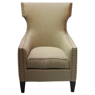 Pennisula Home Collection Co. Jordan Euro Burlap Armchair