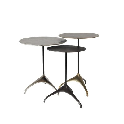 Creative Co-Op Turn of the Century 3 Piece End Table Set Image