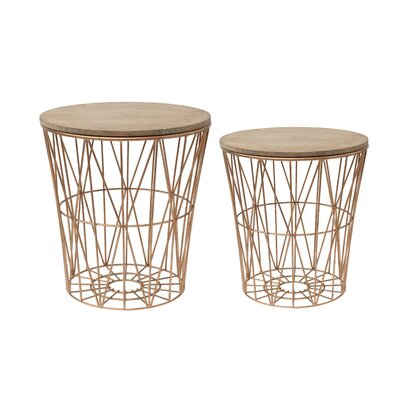 Creative Co-Op Terrain 2 Piece End Table Set