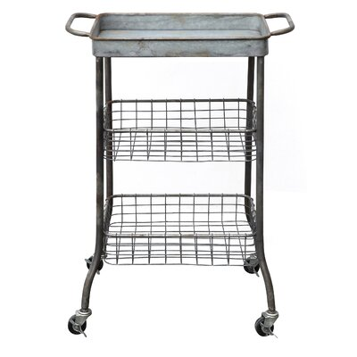 Creative Co-Op Honey Grey Serving Cart