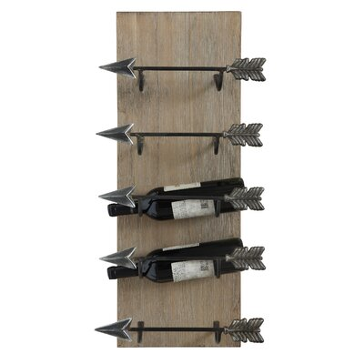 Creative Co-Op Sonoma 5 Bottle Wall Mounted Wine..