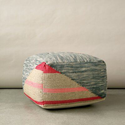 Creative Co-Op Terrain Wool and Cotton Ottoman