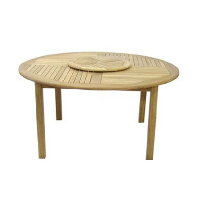 Royal Craft Virginia Round Teak Dining Table Wayfair UK