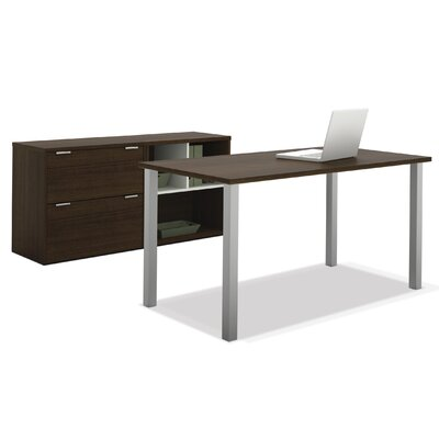 Bestar Contempo 2-Piece Standard Desk Office Suite