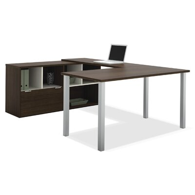 Bestar Contempo Writing Desk with Storage..