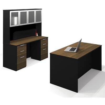 Bestar Pro-Concept Standard Desk Office Suite with Hutch