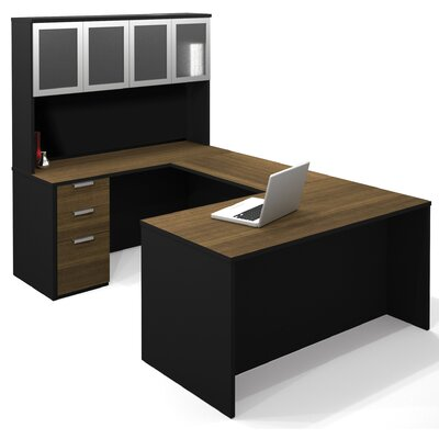 Bestar Pro-Concept U-Shape Desk Office Suite with Hutch