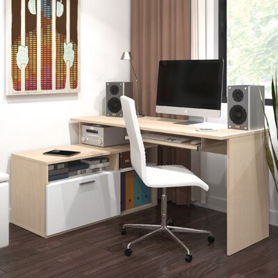 Bestar Modula Computer Desk with File