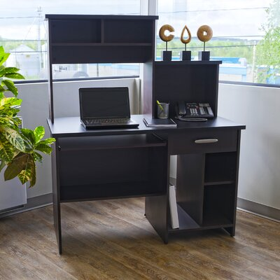 Red Barrel Studio Cushman Computer Desk with Bookcase