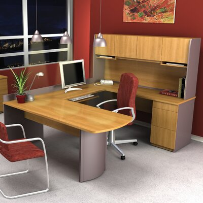 Bestar Executive 3 Piece U-Shaped Desk Office Suite