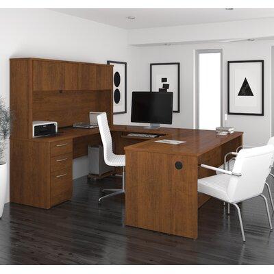 Latitude Run Karyn Computer Desk with Hutch
