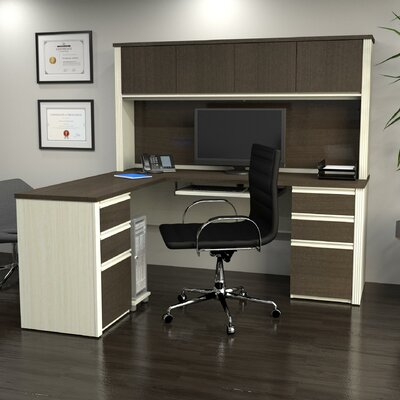 Red Barrel Studio Bormann Workstation Desk with Pedestal