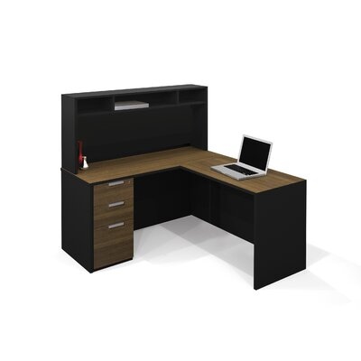 Bestar Pro-Concept Executive Desk with Hutch and Pedestal Image