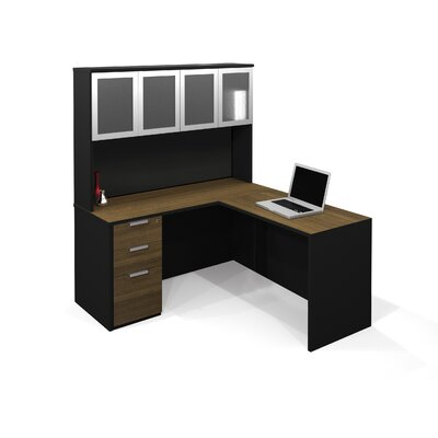 Bestar Pro-Concept Executive Desk with High Hutch and Pedestal Image