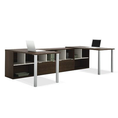 Bestar Contempo Double Computer Desks with S..