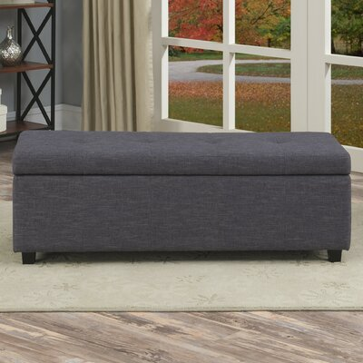 Simpli Home Castleford Upholstered Storage Entryway Bench