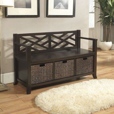 Simpli Home Adrien Entryway Storage Bench