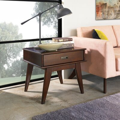 Simpli Home Draper Mid Century End Table