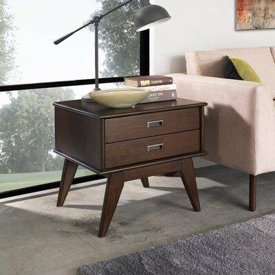 Simpli Home Draper Mid Century Chairside Table