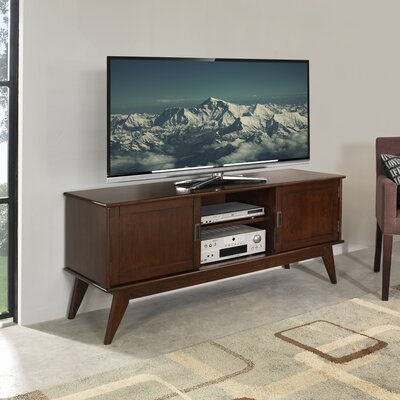 Simpli Home Draper Mid Century Low TV Stand