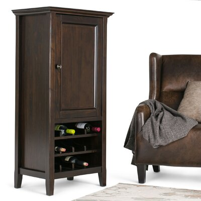 Simpli Home Amherst 12 Bottle Floor Wine Cabinet