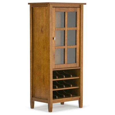 Simpli Home 12 Bottle Floor Wine Cabinet
