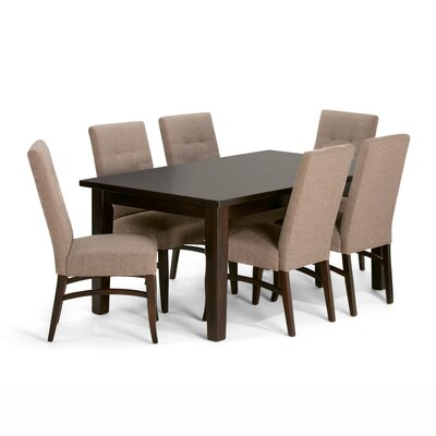 Simpli Home Ezra 7 Piece Dining Set