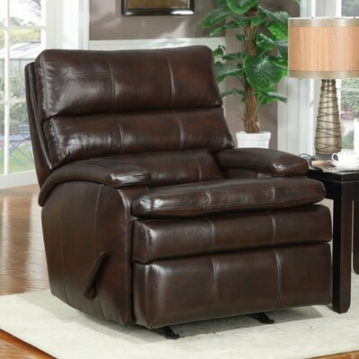 At Home Designs Belmont Leather Rocker Recliner