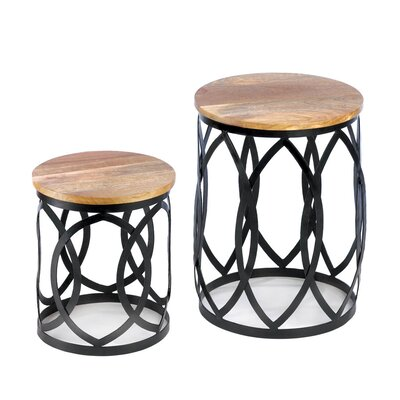 Malibu Creations Signature Series 2 Piece Nesting Table Set