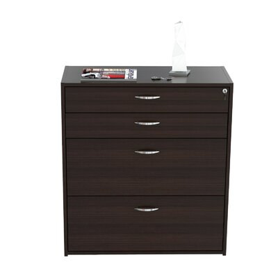 Inval 4 Drawer Storage & Filing Cabinet