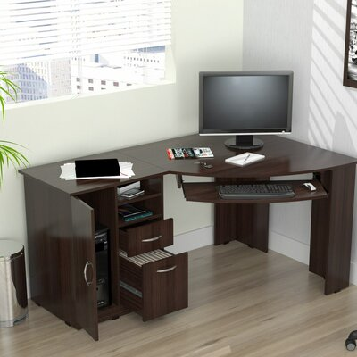 Inval Computer Desk with Shelf