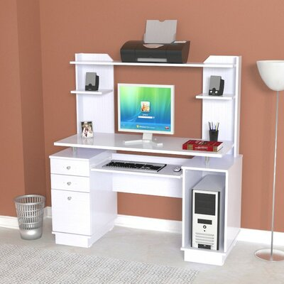 Inval Laura Computer Desk with Hutch