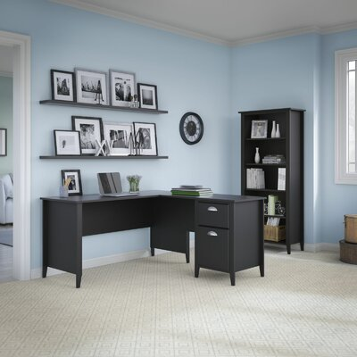 Kathy Ireland Office by Bush Connecticut 2-Piece L-Shape Desk Office Suite