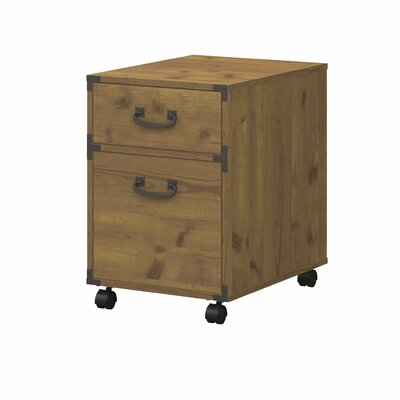 Kathy Ireland Office by Bush Ironworks 2-Drawer Mobile Pedestal