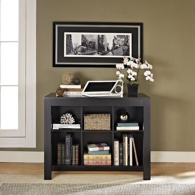 Varick Gallery Oday Credenza Desk with Drawer and Bookcase
