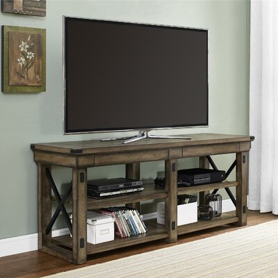 August Grove Irwin Rustic Wood TV Stand