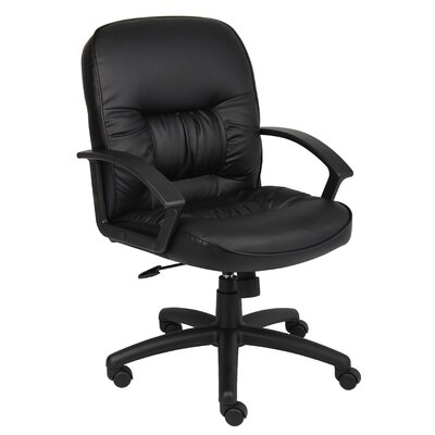 Symple Stuff Mid-Back Leather Conference Chair