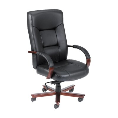 Boss Office Products High-Back Italian Le..