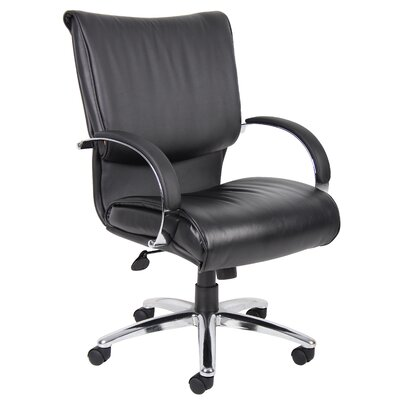 Boss Office Products Mid-Back Leather ..