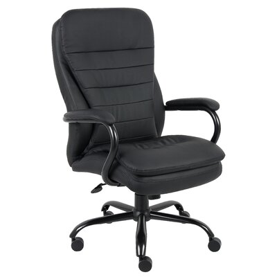 Boss Office Products Adjustable High-Back Plush Executive Chair